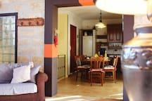 Ambiente unico cucina salotto