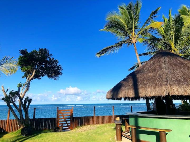Chalé com acesso direto a praia - Arraial d' Ajuda