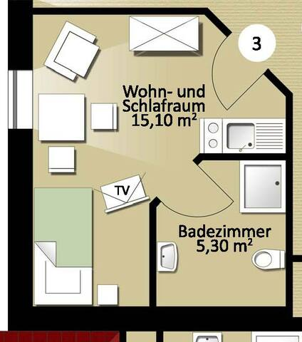 Appartement Nr. 3 - Erdweg - Apartament