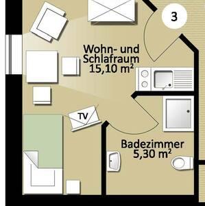 Appartement Nr. 3 - Erdweg