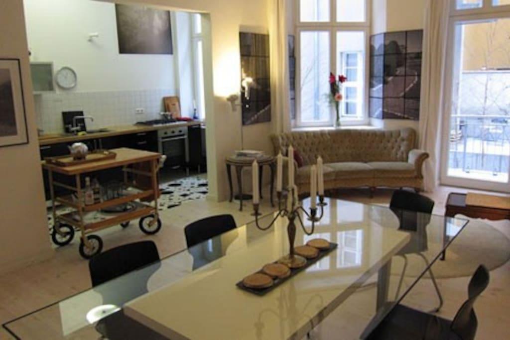 living room kitchen/balcony