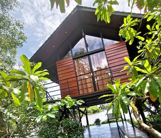 Nature cabanas & floating restaurant