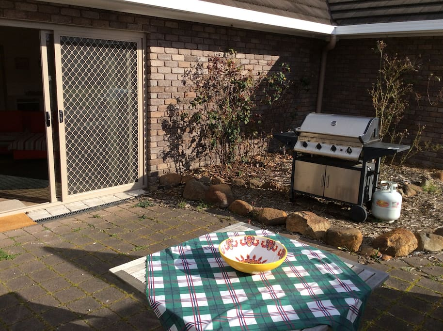 Access to outside patio area with BBQ