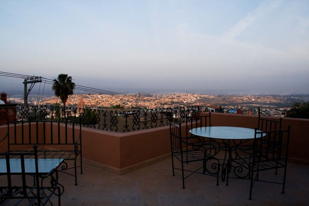 View terrace......on top of the world