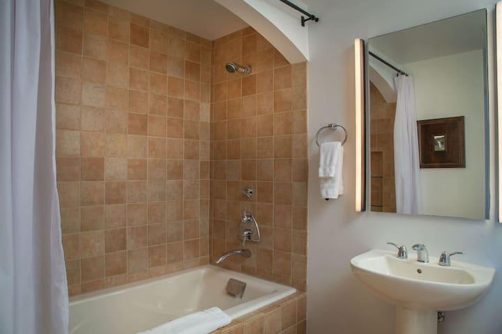 Bathroom for bedroom 2 with shower tub combo