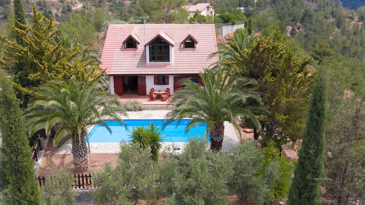 Mountain, Panoramic, Tranquil 3B Villa with Pool