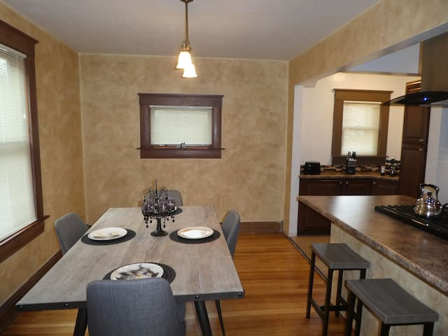 Dining room and breakfast bar