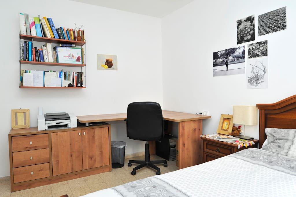 Work station in bedroom