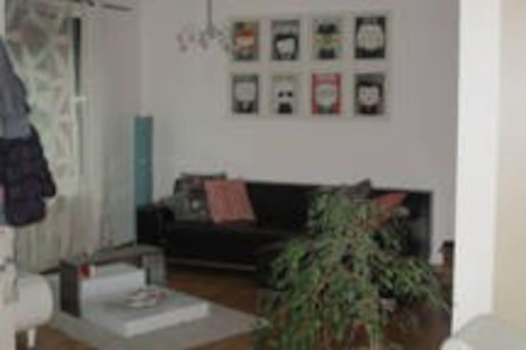 Salon spacieux - TV 82 cm