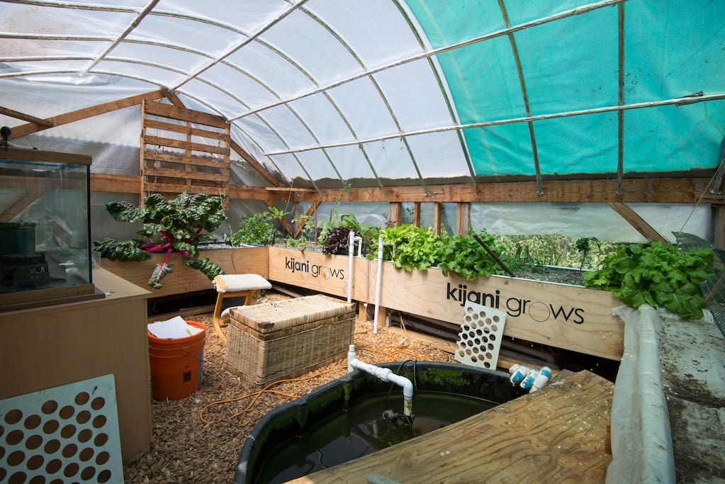 We even have aquaponics...and glad to explain the system.