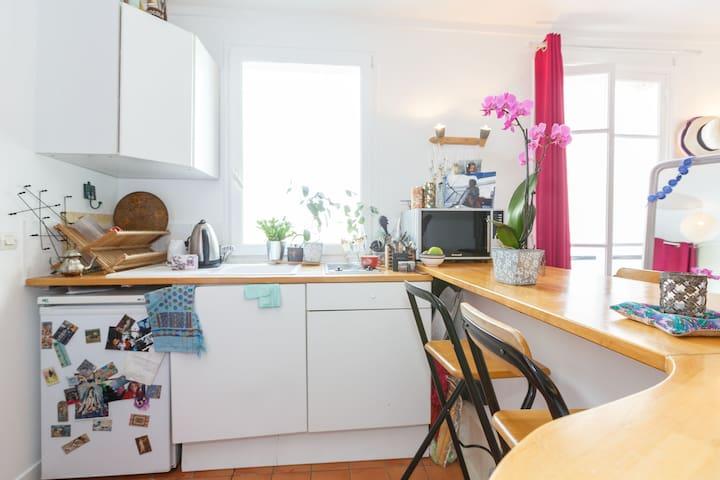 charmant cozy studio à Montmartre