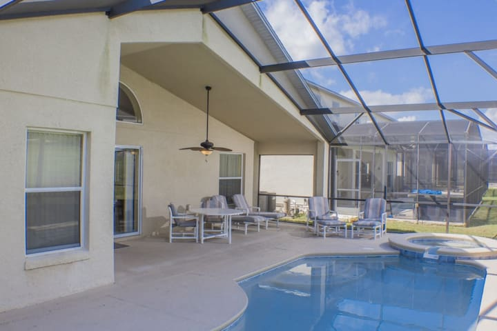 The Glorious Private Pool,Spa & Covered Lanai.