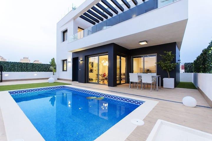 Modern luxury private villa Orihuela costa