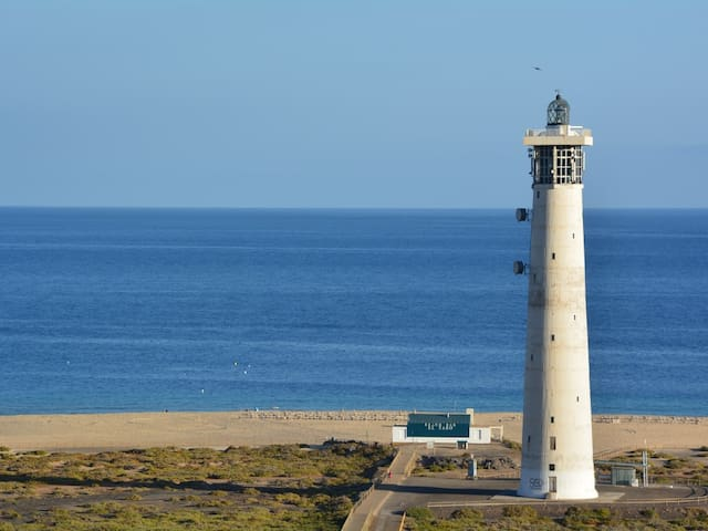 Sea , beach and lighthouse view !!