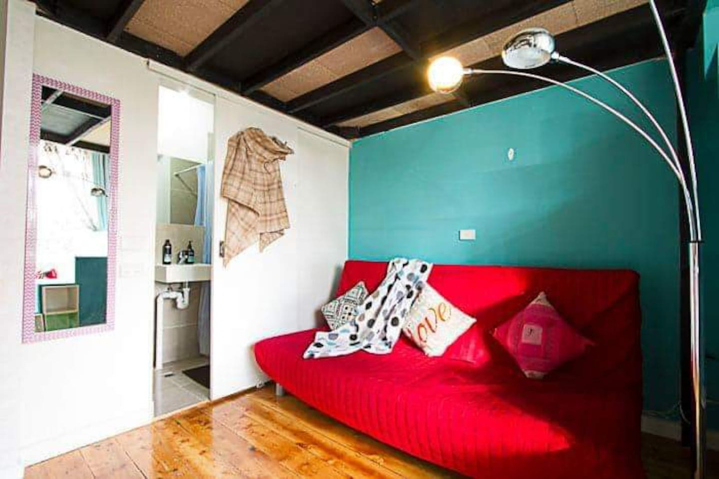 A gorgeous funky loft with ensuite kitchenette living space