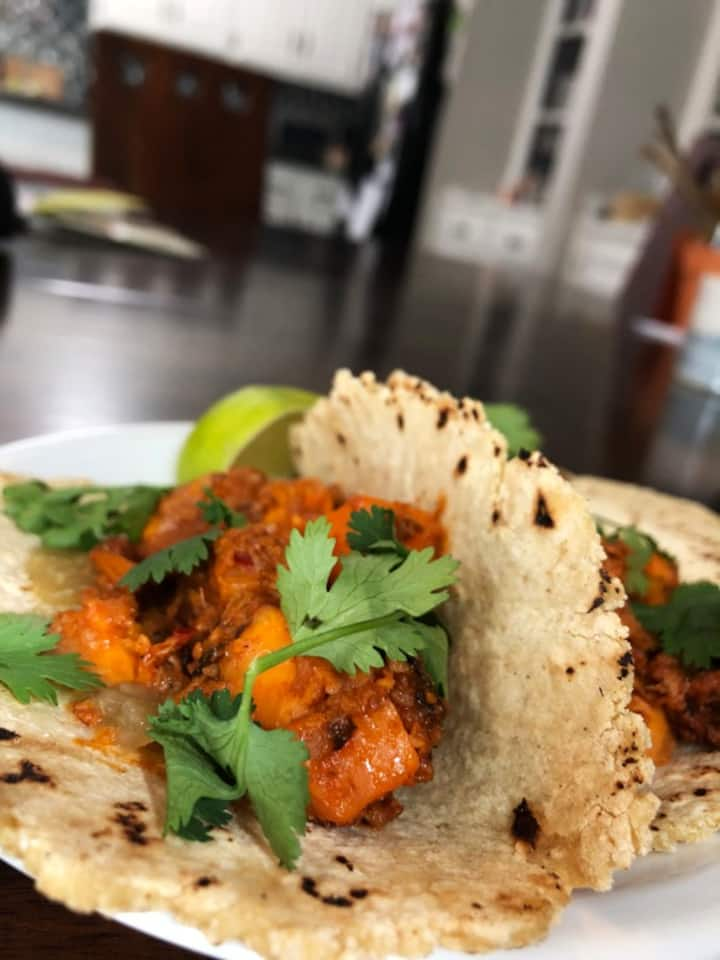 Chorizo and Sweet Potato Tacos