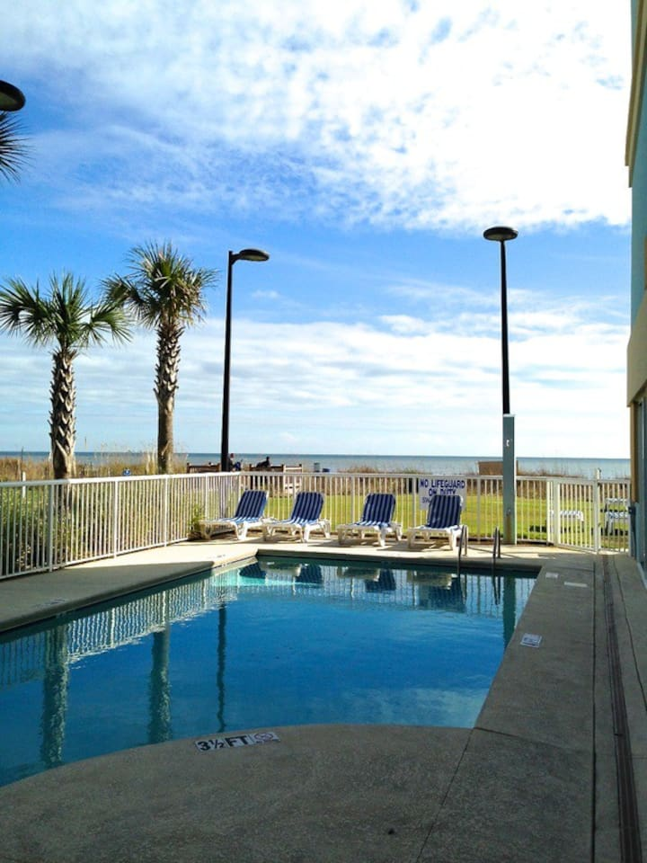 Once of the oceanfront pools.