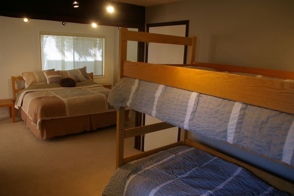 King Bed and Twin XL bunk beds