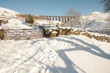 Winter walk to Arten Gill Viaduct.