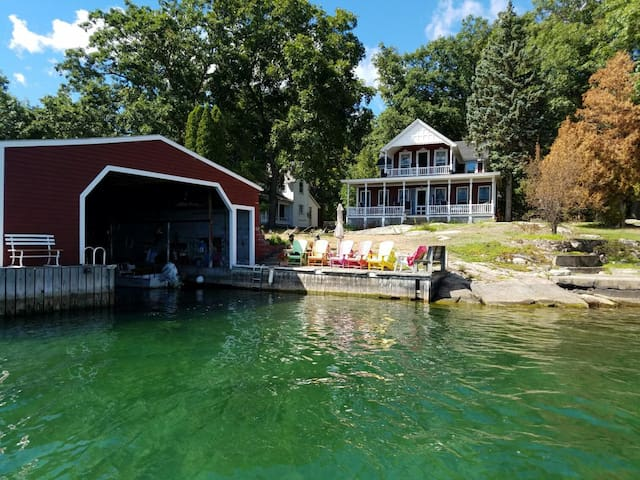 Grenell Island Cottage & Boathouse-channel side - Clayton