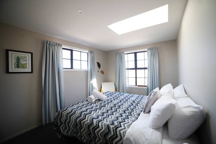 King Bed with Skylight for Star Gazing