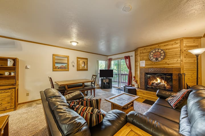 Beautifully decorated ski-in/ski-out condo with fantastic views - dogs OK!