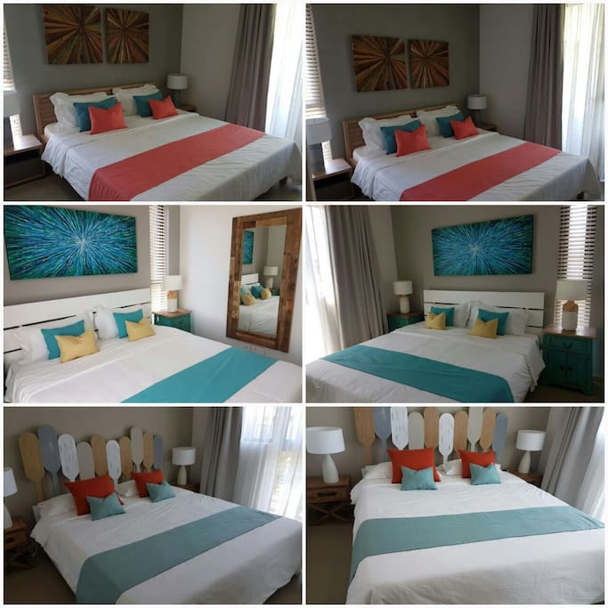 Brand new 3-bedroom apartment with finely decorated and fully equipped. Access to beach, Radisson Hotel facilities, gym, swimming pool, tennis courts and fine restaurants within 3 minutes walk. You can also immerse yourself into exploring luxuriant Mauritius ( walking distance to natural reserve park) and its fine beaches (5 other beaches to chose within 20 minutes drive). Pictures included are taken by our family members, except where credit given.