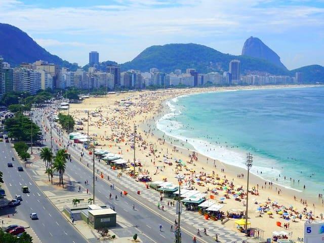 Apart 5☆ Location!  Next to Copacabana Beach