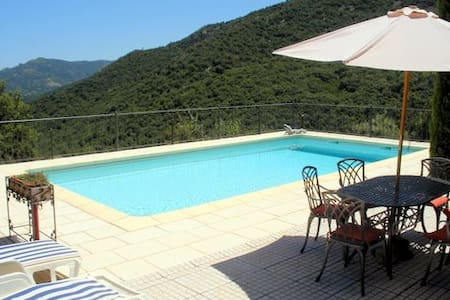 Apt Rene with (shared) large pool & stunning views - Laroque-des-Albères
