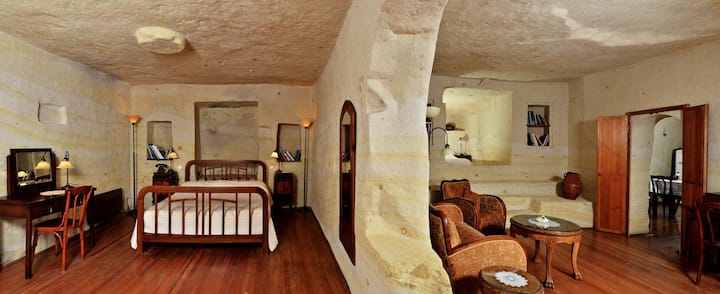 Fantasy Cappadocian Cave House with Two Gardens