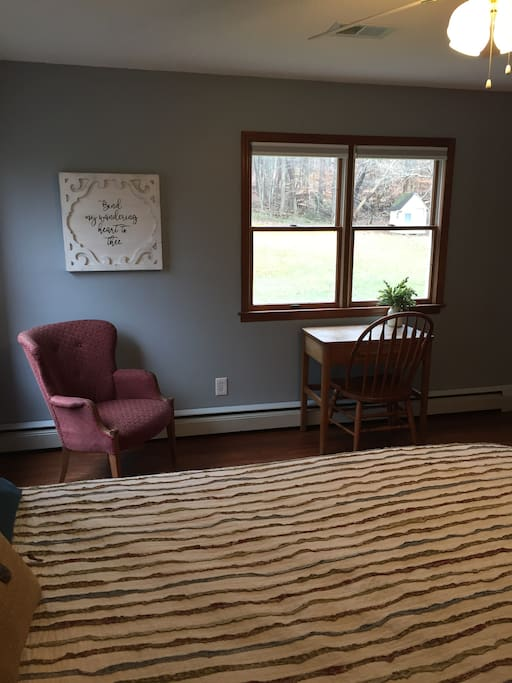 Small workspace located in private room