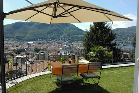 A private garden over Como city - Como