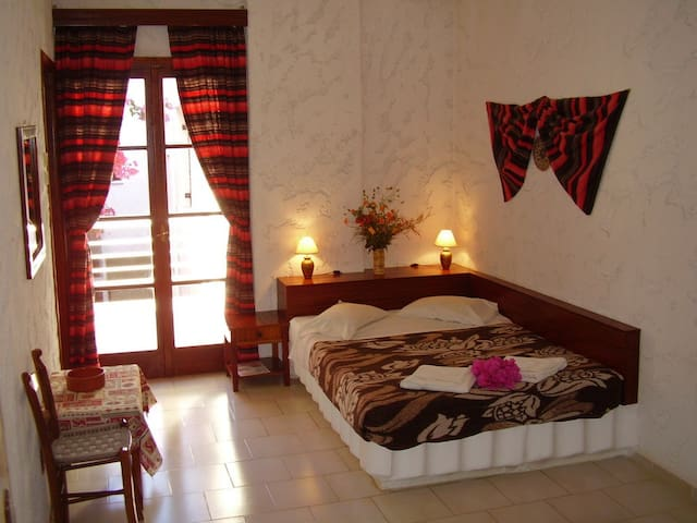 Double bedded room with private facilities
