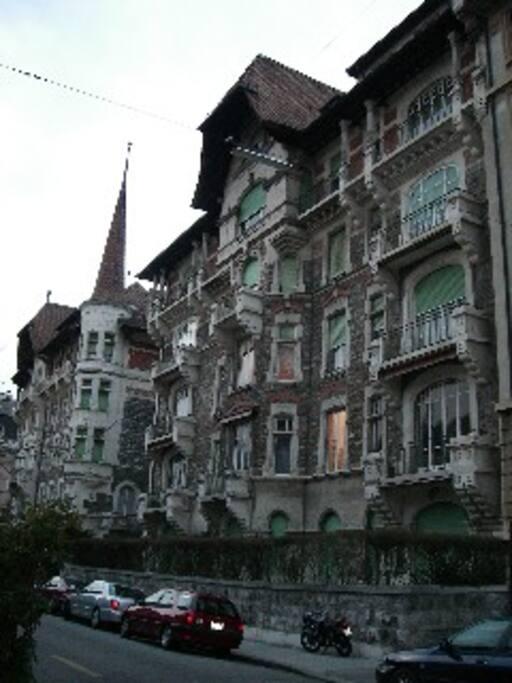 building typical in Geneva