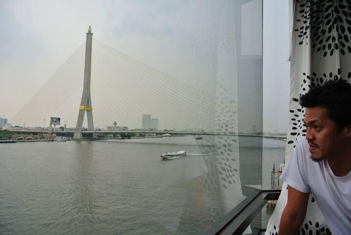 View of Rama 8 Bridge