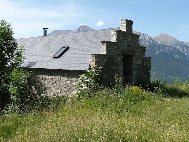 Stone barn in Pyrenees mountains - San Juan de Plan