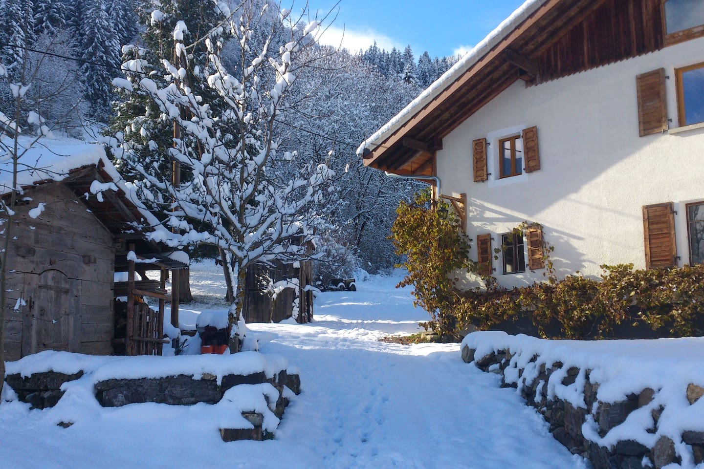 La Grange de Pimberty in the snow!