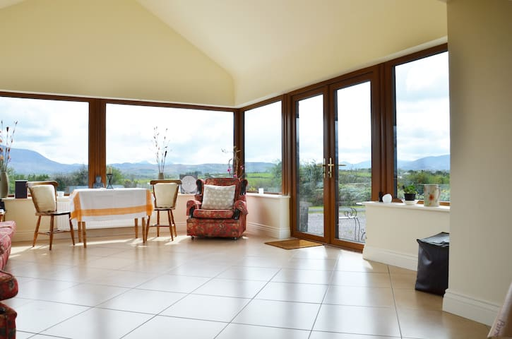 View of conservatory from kitchen