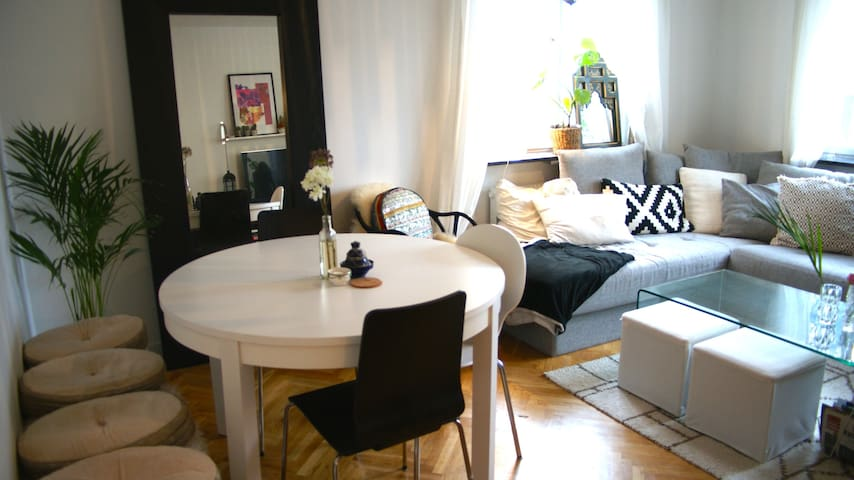 Bright cozy apartment 10 min to city! - Estocolmo - Apartamento