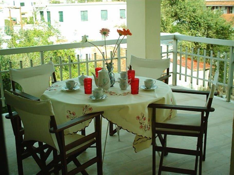the balkony