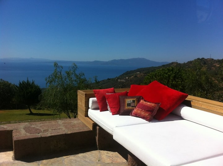 Amazing villa pool+view in Assos