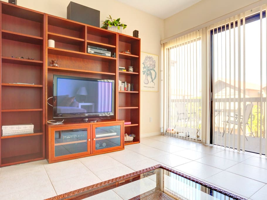 Pop some popcorn and watch a movie on our HDTV. Our House at the Beach 222 has a beautiful, large HDTV and DVD play for you to enjoy! Wait until the sun goes down and have movie night at home.