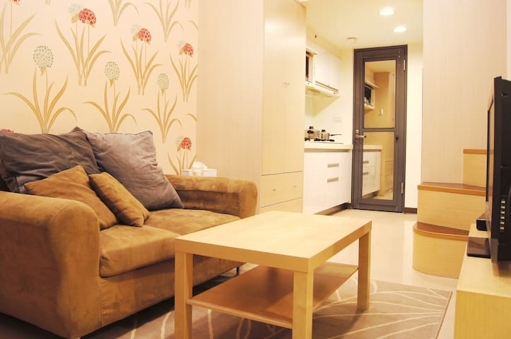 Taipei Chic Apt , 5min from MRT, Mezzanine bedroom - Banqiao District - House