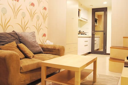 Taipei Chic Apt , 5min from MRT, Mezzanine bedroom - Banqiao District