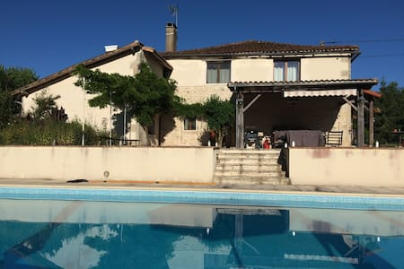 Serenity - 5 bedroom house + seasonal outdoor pool - Genouillé - Talo