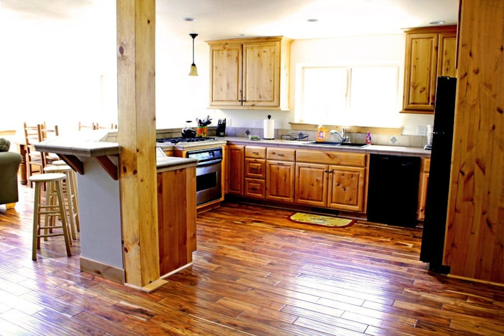 Lots of counter space for preparing all your meals.