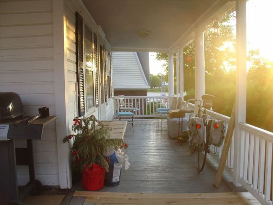 Front Porch at sunset