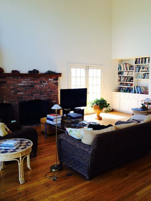 Living Room with comfortable seating and large flatscreen TV