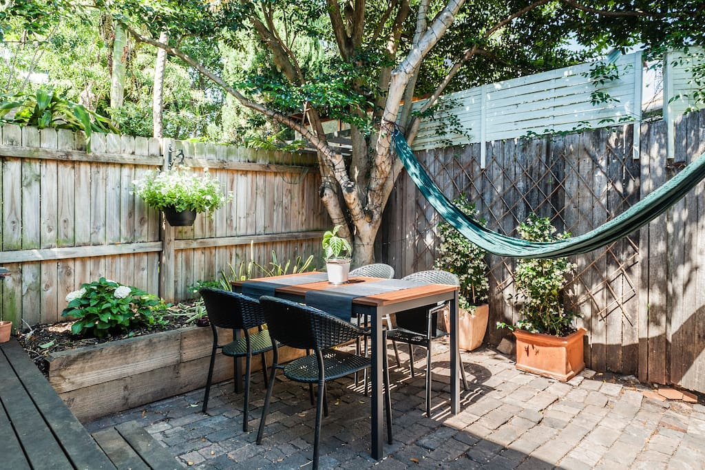 Private and spacious Backyard with BBQ
