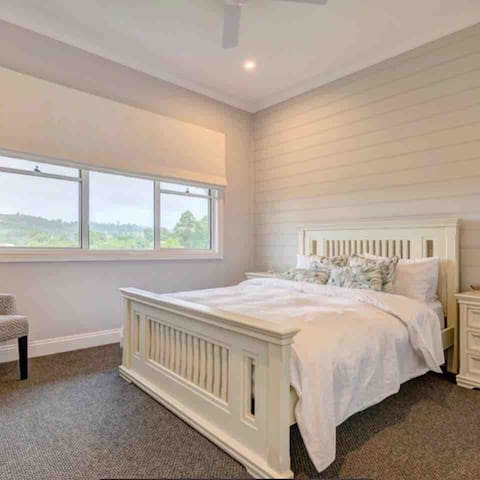 Main bedroom with country views